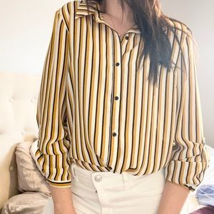 Adrianna Papell Stripped Blouse